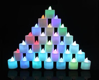 Wholesale Novelty LED Candles Electronic Lights Color Light for wedding birthday party Valentine Day Christmas Light color can be selected a457