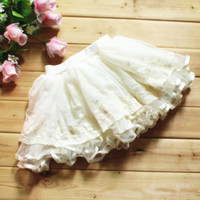 Wholesale Hot Sell Summer Girls Tulle Layered Tutu Skirts Kids Clothing Lace Gauze Ruffles Short Dress Children s High Quality White Skirt H0717