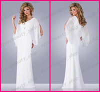 Sheath/Column Reference Images V-Neck 2014 Sexy V-Neck Chiffon Sheath Goddess Greek Beach Wedding Dresses Hollow Long Sleeve Floor Length Garden Bridal Reception Party Gowns Sale