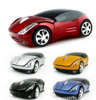 Wholesale 2 GHz USB Mini Wireless Optical Mouse Car Auto mode Blue ray