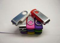 Wholesale 1pcs GB Flash Thumb Drives Pro USB Flash Memory Drive USB Mini Silver Plastic Swivel USB Flash Memory