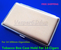 Square   New Pocket Cigarette Tobacco Box Case Holder 100mm 14pcs Gold