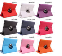 Wholesale 360 degree Rotating PU Leather stand Case for ipad air mini Retina Samsung galaxy Tab lite tab tab S
