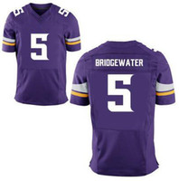 Wholesale 2014 Draft Vikings Teddy Bridgewater Purple Elite Football Jerseys Mens Sports Jerseys All Team Players Shirts Cheap Outdoor Apparel