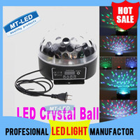 Wholesale X20 by EMS Mini Digital LED RGB Crystal Magic Ball Effect Light DMX512 Disco DJ Stage Lighting Voice activated light lamp bulb