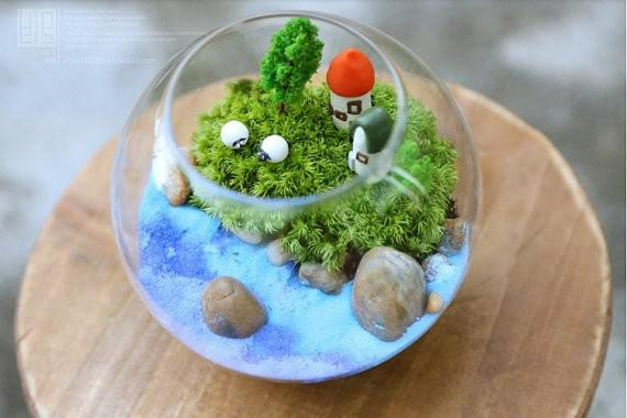 Hot Sale Dia 12 Cm Glass Fish Bowl Glass Vase Handmade