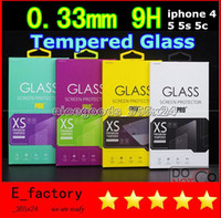 Wholesale 0 mm Tempered Glass Screen Protector for iphone s C plus samsung galaxy S5 S4 S3 Note S6 edge mini