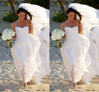 A-Line Reference Images Sweetheart BH Hot New Megan Fox Gorgeous Sweetheart Empire Simple Beach Bridal Gowns For Maternity Women Bridal Gowns Chiffon Wedding Dress