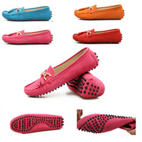 Wholesale Eu Size Sperry Women Flats Boat Shoes genuine leather driving mocasins Loafers Shoes Ladies Wedges Shoes For Women Platform Creepers