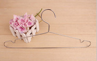Wholesale Clothes Hangers Children Favor Stainless Steel Coat Drying Rack Clothes Hanger