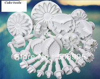 Wholesale Big promotion Vario10 Style sets Mould FONDANT OR GUM PASTE CAKE DECORATING MOLD Tools white DIY