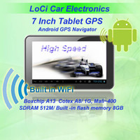 Wholesale inch car Android GPS navigator Pad Tablet A13 GHZ DDR512M Capacitive screen Android4 GB IGO amp Naivtel map