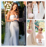 Wholesale 2015 Sheer Lace Backless Sweetheart Sleeveless A Line Beads Sash Crystal Ivory Summer Beach Out Door Wedding Dresses Grace Lace Court Train