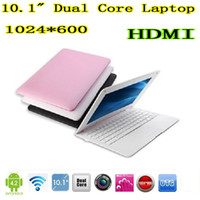 Wholesale 10 inch laptop android OS VIA netbook dual core HDMI USB port webcamera gaming laptops cheap XB10