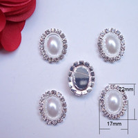 Wholesale M0166 mmX17mm rhinestone embellishment without loop