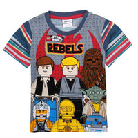 Wholesale Rebels Star Wars costume cartoon printed t shirt toddler clothing cotton short sleeve boys shirts kids summer wear C4935