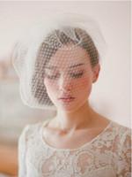 New Dignifine White Birdcage Face Hats Veil Net Bridal Fasci...