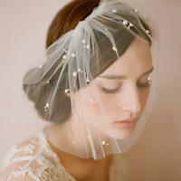 Hot Sell Goddess White Birdcage Face Hats Veil Bridal Fascin...