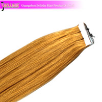 Wholesale 100g pack Brazilian Human Hair Tape in Hair Weft Extension Soft Cheap Price Mix Lengths VL