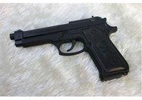 Gas pistol - New Windproof lighter Black U9 Gun Model Pistol Lighter Gun Shape Lighter Cigarette Lighter
