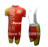 Short Men Polyester ropa ciclismo !!! 2014 Olympics Spain Team ESP Team Cycling Jersey And Bib Shorts Kit Spain cycling ciclismo bike jersey maillot