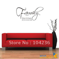 amazon wall stickers - Discount Amazon HOT Family English Quote Vinyl Wall Decals cm Fashion Waterpoof Wall Sticker ZooYoo8015