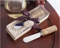 Wholesale Newest wedding promotion gifts Vintage Reserve Stainless Steel Spreader with Wine Cork Handle For Wedding favors K08021