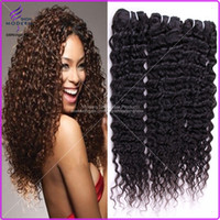 Wholesale Indian Virgin Hair Long Unprocessed Remy Human Curly Hair Deep Wave Hair Weaving Natural Black B Hairstyles Bundles Mixed quot quot