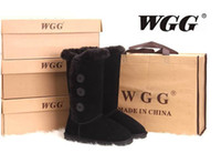 Wholesale dorp shipping new Women s Classic tall WGG1873 Button style snow boots Winter boots Warm With box certificate dust bag