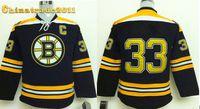 Wholesale classics mix bruins Chara youth hockey jerseys boston black hockey jersey well stitch bruins logo newest jersey team american jersey