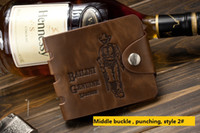 antique business card - Wallet card holder leather wallet casual street selling students short paragraph wallet antique bag wallet a459