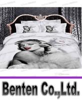 Cheap LLFA5179 Sexy Goddess Marilyn Monroe luxury oil painting 3d bedding set queen size 4pcs duvet comforter covers bed sheet bedclothes cotton