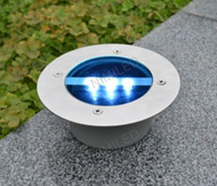 IP65 Garden  Outdoor Solar Power 3 LED Bulbs Light Buried Lamp Path Way Garden Under Ground Decking Yard