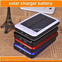 Wholesale High Capacity led Solar Charger mAh Mobile Power Bank External Battery Charger For iPhone iPad iPod Nokia Samsung Best price