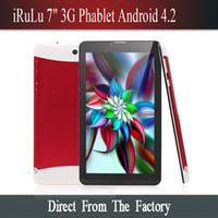 7 inch phablet - iRuLu inch G Phablet Android MTK6572 Dual Core GB Dual SIM GPS Phone Call WIFI Tablet PC With Bluetooth