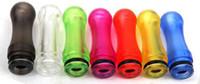 Wholesale 2014 hot sale EGO Plastic Drip Tips Mouthpiece transparent Colorful for EE2 Vivi Nova DCT T4 Electronic Cigarette Clearomizer