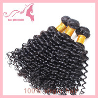 Wholesale 100 Brazilian Virgin Hair Weft Extension Deep Curl Remy Human weave extensions or off DHL Fast Shipping
