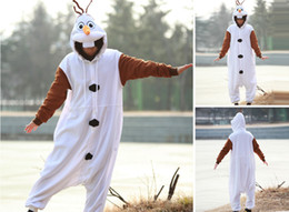 Wholesale New FROZEN Olaf Cheap Adult Men Women Halloween Animal Kigurumi Cosplay Costume Pajamas Outfit Nonopnd Nightclothes Onesies Clothing
