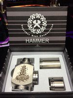 Cheap Hammer E Pipe Mod Full Mechanical Mod w 2 Extension Tubes Electronic Cigarette for 18350 18650 Battery CE4 CE5 Atomizer