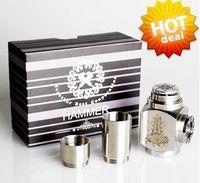 Cheap Hammer Mods full mechanical mod with 2 extension tubes 18350mAh 18500mAh 18650mAh vapor gift box kit e cigarette Nemesis Ikarus mod clone
