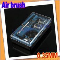 Air Brush    Register free shipping!! 0.35mm DUAL ACTION Air Brush Spray Paint Gun Kit Set for Tanning Makeup Body Art