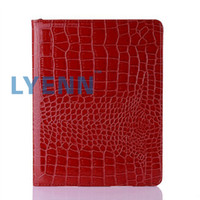 Wholesale Degree Rotation Case Cover for Apple Ipad Crocodile Skin Smart Stand PU Leather Hot Selling