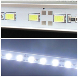 Wholesale 2015 new Non waterproof led m LED Bar Light Strip Cool White Warm White Hard Strip DC V Aluminium Profile Shell M