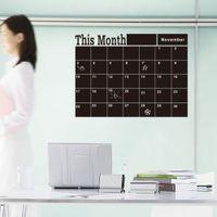 art classroom decorations - Month Planner Chalkboard Wall Stickers Calendar Blackboard Stickers For Bedroom Office Classroom Decoration