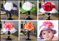 Wholesale NEW styles Baby caps kids sun helmet baby hats toddle sunbonnet girls sunhat girls headgear