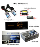 hid headlights - Xenon HID Single Beam DC Kit Car Auto Headlight Slim Ballast W H1 H3 H4 H7 H8 H9 H10 H11 H13 Bulbs All Color