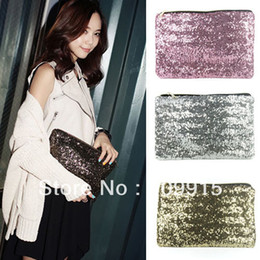 Dazzling Sequins Handbag Party Evening Bag Wallet Purse Glitter Spangle Clutch Free Shipping