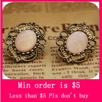 Wholesale Min Order Mix Jewelry order Vintage Lace Inlaid Gemstone Stud Earrings Fashion Earring E0037