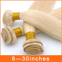 Wholesale 8 quot quot Unprocessed Straight Hair Light Blond A Brazilian Peruvian Malaysian Hair Extension Virgin Remy Human Hair Weave Weft JF1090