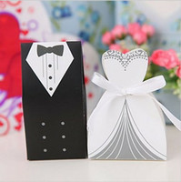 Wholesale New Arrival bride and groom box wedding boxes favour boxes wedding favors pairs